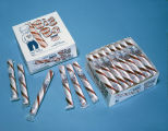 Display of Big Bo peppermint candy sticks produced by the American Candy Manufacturing Company in...