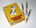 Display of Donald Duck Sticks produced by the American Candy Manufacturing Company in Selma,...