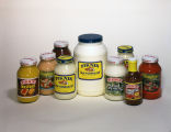 Display of condiments produced by the Piknik Products Company in Montgomery, Alabama.