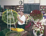 Haygood Paterson creating floral arrangements at Rosemont Gardens in Montgomery, Alabama.