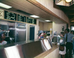 Interior of Casey's Caboose, a fast food restaurant in Montgomery, Alabama.
