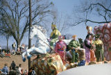 Krewe of the Phantom Host float during the parade in Montgomery, Alabama.