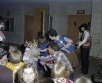 Children arriving at Garrett Coliseum for Kindergarten Day during the 1978 South Alabama Fair in...