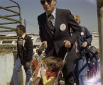 People arriving at the 1978 South Alabama Fair in Montgomery, Alabama, for a special event for...
