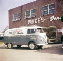 Price's Donuts van parked in front of the store at 1059 Bell Street in Montgomery, Alabama.