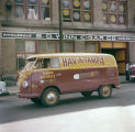 Hav-A-Tampa van parked in front of the S. D. Winn Cigar Company on Commerce Street in downtown...