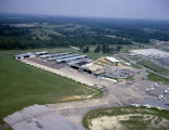 Aerial view of Montgomery Aviation at Dannelly Field in Montgomery, Alabama.