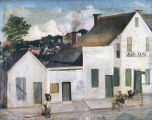 Painting of Alex Faim's Tavern on North Court Street in Montgomery, Alabama.
