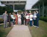 Group in front of the Elks Memorial Center, an assisted living facility on Chisolm Street in...