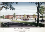 Drawing of Bay Minette Hospital in Bay Minette, Alabama.