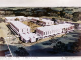 Drawing of residence halls at the University of South Alabama in Mobile, Alabama.