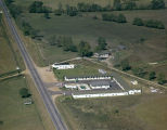 Aerial view of Vinson's Motel on the Troy Highway in Montgomery, Alabama.