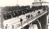 Marchers on Edmund Pettus Bridge during the Selma to Montgomery March.