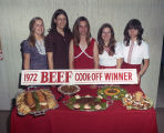 Top five winners of the 1972 Beef Cook-off sponsored by the Alabama Cattlemen's Association.