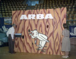 Alabama Road Builders Association booth at Garrett Coliseum during the 1960 South Alabama Fair in...