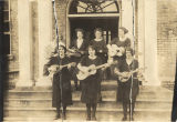 Members of the string band at the Downing Industrial School for Girls in Brewton, Alabama.
