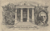 Sketch of Pauline Taylor Hall at the Downing Industrial School for Girls in Brewton, Alabama, and...