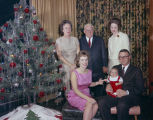 Family of Dr. Haywood S. Bartlett beside the Christmas tree at their home in Montgomery, Alabama.