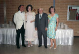 Elmore Bartlett with her fiance and parents at her engagement party in Montgomery, Alabama.