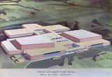 Drawing of Phenix City South High School in Phenix City, Alabama.