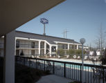 Swimming pool at the Hampton Inn at 1401 Eastern Boulevard in Montgomery, Alabama.