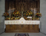 Altar decorated for Thanksgiving at the Church of the Ascension at 315 Clanton Avenue in...
