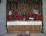 Altar decorated for Christmas at the Church of the Ascension at 315 Clanton Avenue in Montgomery,...