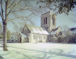 Episcopal Church of the Ascension at 315 Clanton Avenue in Montgomery, Alabama, after a snowfall.