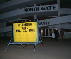 Marquee for the El Domino Ball outside Garrett Coliseum in Montgomery, Alabama.