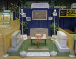 Henley's Memorial Company booth at Garrett Coliseum during the 1959 South Alabama Fair in...