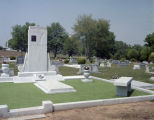Grave of Hank Williams at the Hank Williams Memorial Cemetery in Montgomery, Alabama.