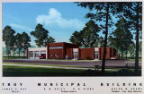 Drawing of the Troy Municipal Building in Troy, Alabama.