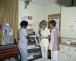 Nurses with a defibrillator at Jackson Hospital in Montgomery, Alabama.
