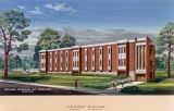 Drawing of the Fisheries Building at Auburn University in Auburn, Alabama.