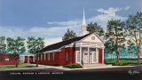 Drawing of the Millbrook Baptist Church in Millbrook, Alabama.