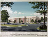 Drawing of the Diagnostic and Agriculture Chemistry Laboratory at Auburn University in Auburn,...