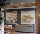 Murals in the office of Jim Wilson and Associates at Union Station in downtown Montgomery, Alabama.