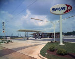 Spur Gas Station in Montgomery, Alabama, possibly on East South Boulevard.