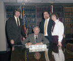 Governor Guy Hunt signing a proclamation declaring February 21 through 28, 1987, to be Photography...