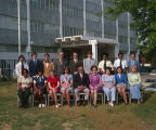 Staff of the Social Security Administration in front of the Aronov Building at 474 South Court...