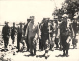 General Douglas MacArthur with General John Cecil Persons and members 31st Infantry Division...