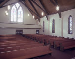 Interior of Whitfield Memorial United Methodist Church at 2673 Fisk Road in Montgomery, Alabama.