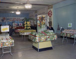 Displays at a meeting of the Montgomery Division of Winn-Dixie Perishable Merchandisers at the...