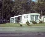 Trailer at the Woodland Hills Park mobile home community on Troy Highway in Montgomery, Alabama.