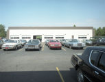 Car lot at the Youngblood-Perry Lincoln-Mercury dealership in Montgomery, Alabama.