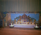 "Stage and set for the performance of ""Anna and the King of Siam"" during the Krewe of the..."
