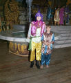 Man and boy in costumes at the Krewe of the Athenians Ball at Garrett Coliseum in Montgomery,...