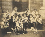 Members of the girls' basketball team at Union Springs High school in Union Springs, Alabama.