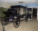 Carriage on display at the Krewe of the Athenians Ball at Garrett Coliseum in Montgomery, Alabama.