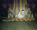 King and queen on stage at the Krewe of the Athenians Ball at Garrett Coliseum in Montgomery,...